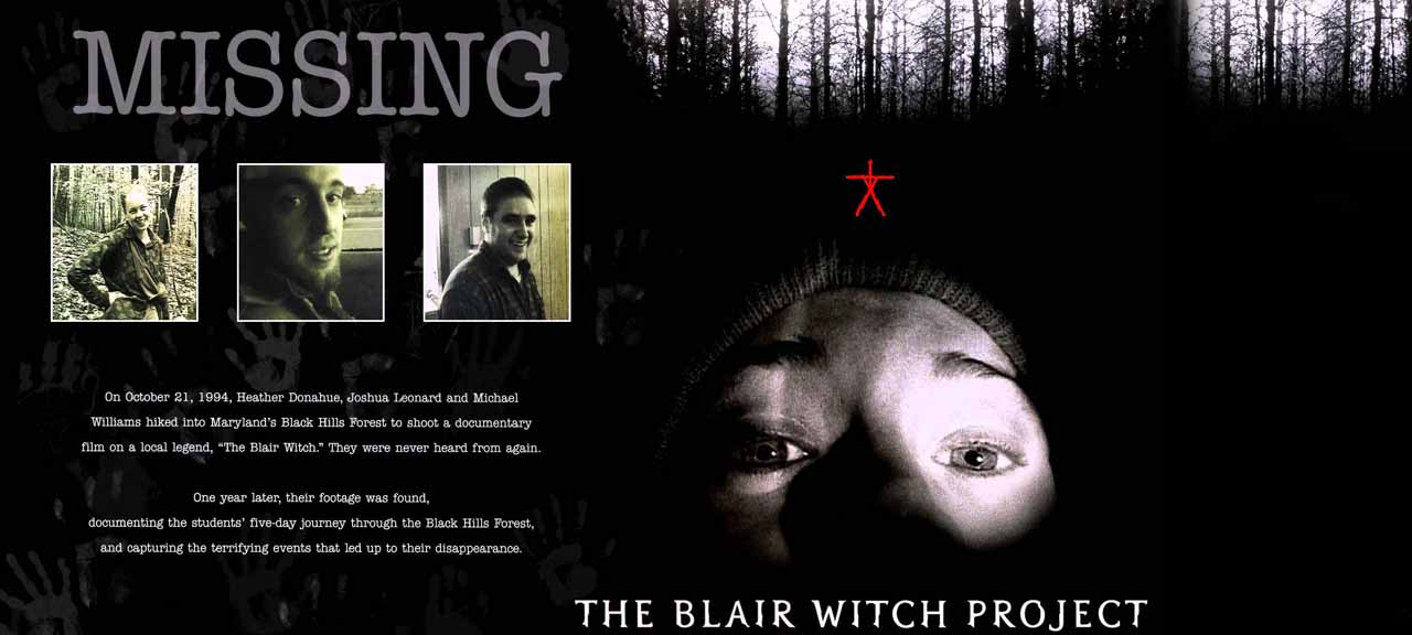 is blair witch project real The blair witch project: the blair witch project was filmed in real time she claims to have heard the legend of the blair witch.